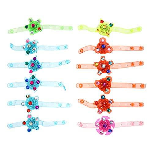 Happyyami 12 Pièces Jouets Enfants LED Light Up Bracelets Main Bracelets Lumineux Retour Cadeaux pour Enfants Fête D  Anniversaire Faveur Classe Jeu Prix