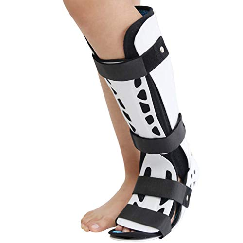 Ortesis de pie Ankle Braces,Walking Boot, Fracture Walker Boot - Ideal For Stable Foot and Ankle Fracture, Achilles Tendon Surgery, Ankle Sprains Walker Brace Protector,White,Leftfoot,M