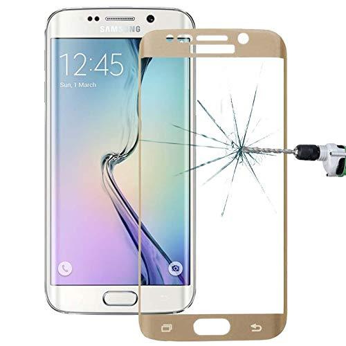 For Samsung Panzerglas Schutzfolien LOPURS 0,2mm 9H Oberflächenhärte 3D Gebogene Oberfläche Vollbild Abdeckung Explosionsgeschützte Gehärtetes Glas Film für Galaxy S6 edge (Schwarz) ,HD Klar, Anti-Öl,