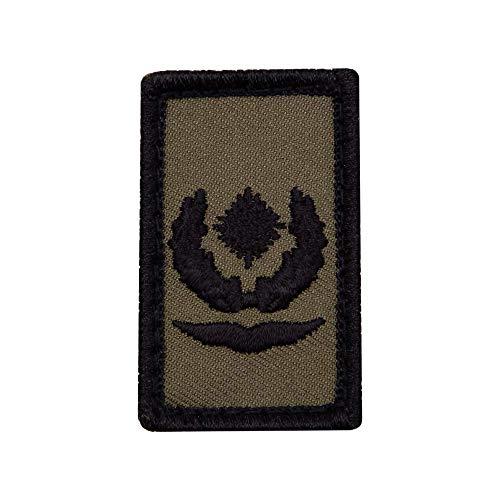 Café Viereck ® Major Luftwaffe Bundeswehr Rank Patch mit Dienstgrad - Gestickt mit Klett – 3 x 5 cm (Oliv Mini)