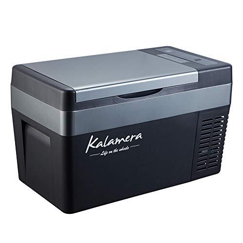 Kalamera Portable Refrigerator - 25-Quart Portable Fridge for Car - 12V Compact Car Fridge - AC and DC Portable Freezer - Outdoor Travel Mini Refrigerator for Camping - Small Portable Mini RV Fridge