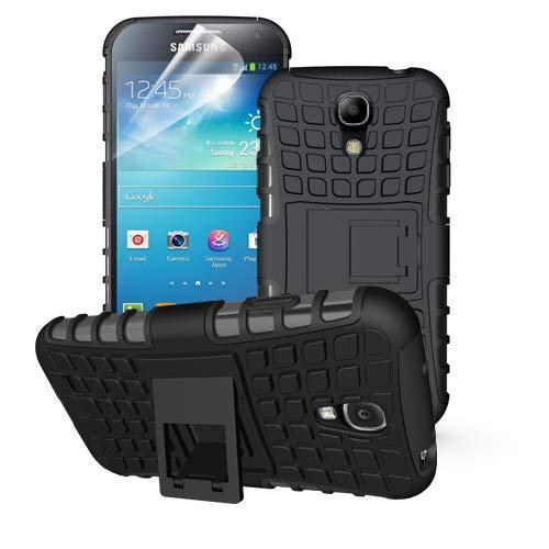 betterfon | Outdoor Handy Tasche Hybrid Case Schutz Hülle Panzer TPU Silikon Hard Cover Bumper für Samsung Galaxy S4 Schwarz