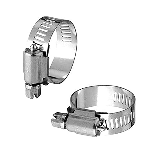 Clyhon - Paquete de 16 tubos de tornillo sin fin ajustables de acero inoxidable, abrazaderas de manguera (9-16 mm)
