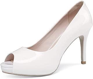 BalaMasa Womens Solid Platform Dance-Ballroom Casual Urethane Pumps Shoes APL11145