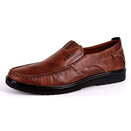 Classic Mocasines Zapatos de Amplio sin Cordones para Hombre Casuales Conducción Antideslizante Ocio Gamuza