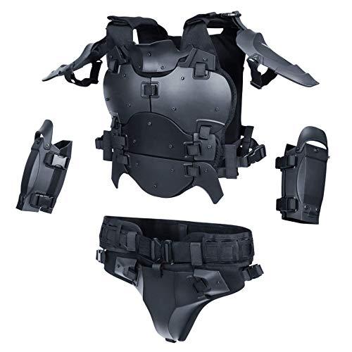 ActionUnion Airsoft Tactical Armor Set Military Tactical Vest Molle Gilet Paintball Vest Adjustable Elbow Shoulder Crotch Protector Battle Belt,CS Field Outdoor Modular Combat Training Breathable