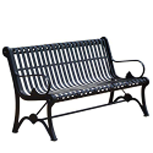 HOUSEHOLD Outdoor garden bench for 3 people, Weather-resistant and weather-proof park steel frame seats, Decorative benches on the lawn porch in the yard, Terrace curved armchair with armrests