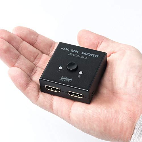サンワダイレクト HDMIセレクター 4K 手動 双方向 2入力1出力 / 1入力2出力 400-SW028