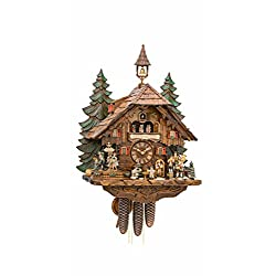 Kammerer Uhren Hekas Cuckoo Clock with Moving Dancers, Musicians and Beer Drinkers