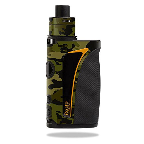 MightySkins Skin Compatible with Innokin iTaste Kroma Slipstream – Green Camouflage | Protective, Durable, and Unique Vinyl Decal wrap Cover | Easy to Apply, Remove | Made in The USA