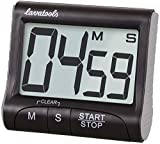 Lavatools KT1 Digital Kitchen Timer & Stopwatch, Large Display, Bold Digits, Loud Alarm, Magnetic, Kickstand