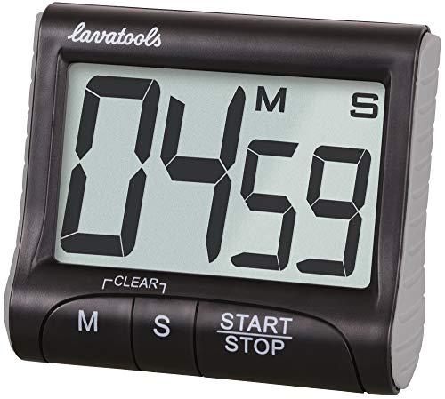 Lavatools KT1 Digital Kitchen Timer & Stopwatch, Large Display, Bold Digits, Loud Alarm, Magnetic, Kickstand
