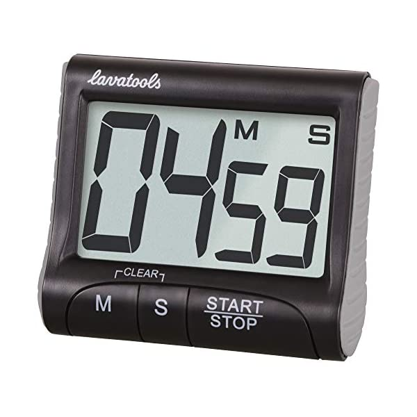 Lavatools KT1 Digital Kitchen Timer & Stopwatch, Large Display, Bold Digits,...