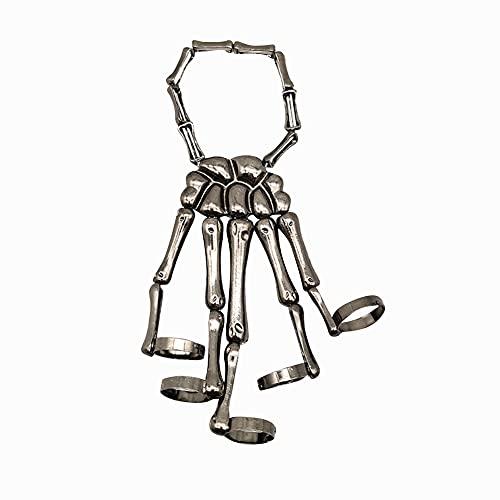 Esqueleto Brazalete Creativo de La Mano Hueso de La Muñeca La Pulsera de...