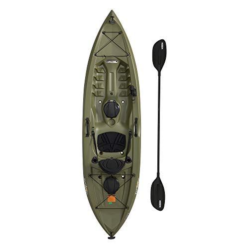Lifetime Tamarack Angler 100 Fishing Kayak (Tamarack Angler with Paddle (Green))