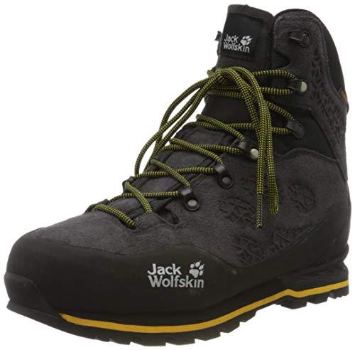 Jack Wolfskin Herren Wilderness Texapore MID M Wasserdicht Trekking- & Wanderstiefel, Schwarz (Phantom/Burly Yellow Xt 6357), 44.5 EU