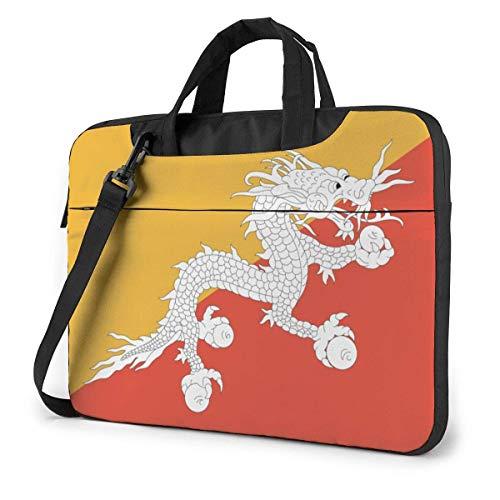 15.6″Durable Hombro Mensajero Bolsa maletín PC Bandera del dragón Moda Impermeable Ordenador Portátil/portátil/Tablets