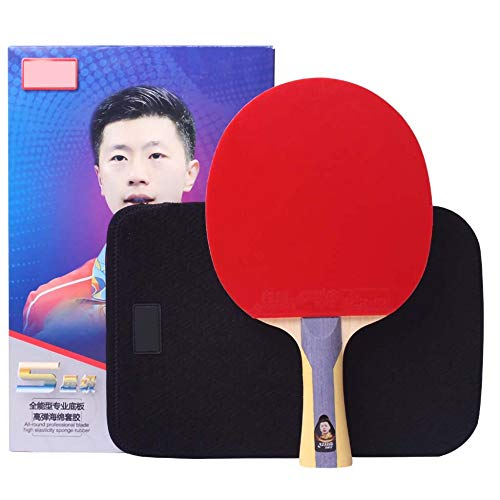 Lerten Palas De Ping Pong Todo Terreno De Cinco Estrellas,Raqueta De Ping-Pong De 5 Capas,Raqueta Única Una Combinación De Defensa Y Ofensa/Como se muestra/mango largo