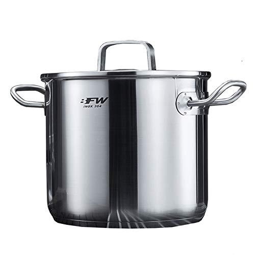 Utensilios de cocina al vapor 304 bote de acero inoxidable, olla de sopa para el hogar con tapa, para cocina de gas/cocina de inducción (7L), adecuada para 3-6 personas Charola para hornear