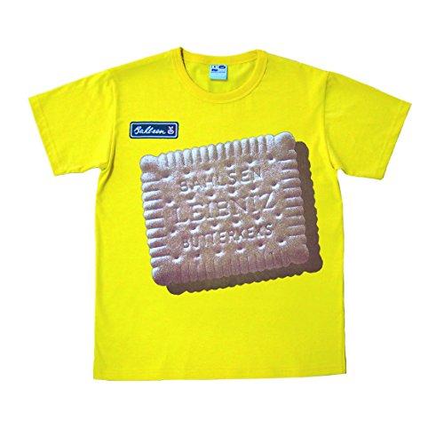 Logoshirt Leibniz Keks T-Shirt - Butterkeks T-Shirt - Rundhals T-Shirt gelb - Lizenziertes Originaldesign