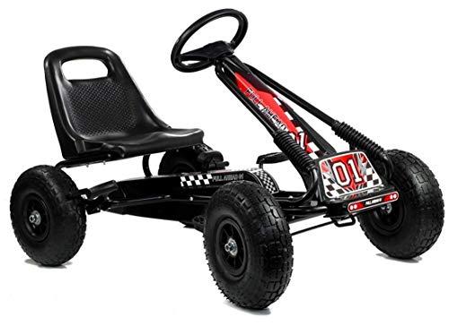 Lean Kart Racing Car Full Speed - Coche de pedales para niños, a partir de 4 años, con neumáticos de goma maciza