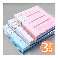 ファイルフォルダ 色付きフォルダーブック - レポートは、アートワークシートプロテクタードキュメント主催フォルダのOfficeフォルダのクリアブックファイルアートポートフォリオをカバー60個のポケット 拡張可能なファイルフォルダ (Color : E)