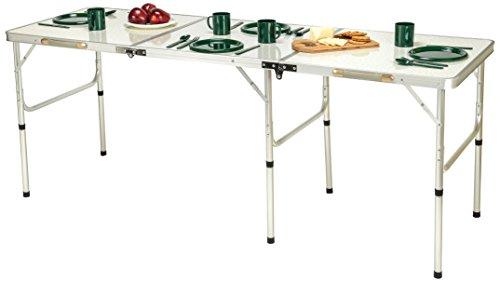 Trademark Innovations Portable Lightweight Aluminum Folding Table