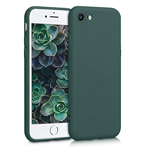 kwmobile Slim Hülle kompatibel mit Apple iPhone 7/8 / SE (2020) - Hülle Silikon Handy - gummiert - Handyhülle Moosgrün