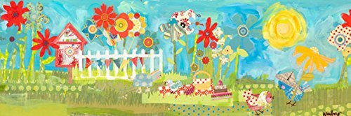 Oopsy daisy Summer Birdies Stretched Canvas Wall Art by Winborg Sisters, 36 by 12-Inch by Oopsy Daisy