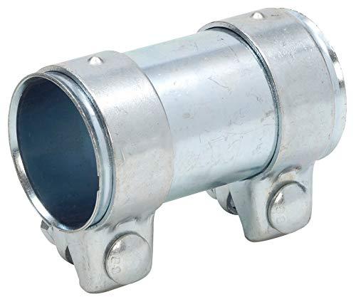 Rohrverbinder 38x90 mm gerade universal Stahl verzinkt mit Schrauben Auspuff
