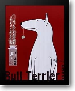 Bull Terrier Tea 26x32 Framed Art Print by Bailey, Ken