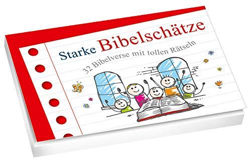 Starke Bibelschätze - Textkarten: 32 Bibelverse mit tollen Rätseln
