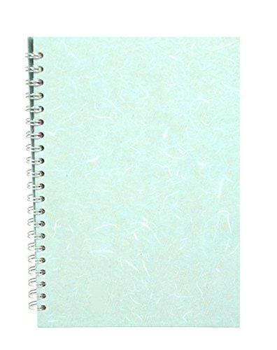 Pink Pig Skizzenbuch, Deckel mit Seide, Hochformat, A4, Papier Weiß, Deckel Blassblau
