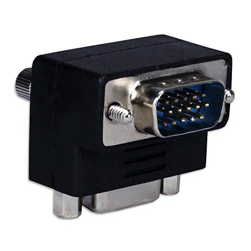 Yohii - Conector adaptador VGA macho a hembra de 15 pines para monitor LCD, TV, 2 unidades