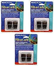 Penn Plax Filt-A-Carb for Multi-Pore and Undergravel E Filters- 6 Total (3 Packs with 2 per Pack)