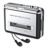 DIGITNOW! USB Convertidor y Reproductor de Cinta casetes,Walkman Reproductor & Convertir Audio Cassette a MP3 Digital,para Grabar Cassette a mp3 en Windows o Mac