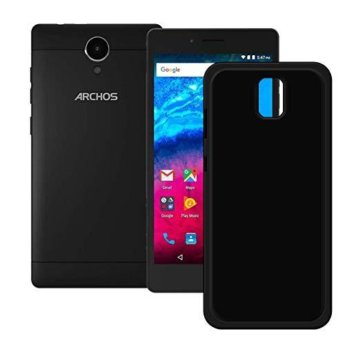 DQG Anti-Fall Schutzhülle für Archos Core 50 Hülle, Weiche Flexibel Handytasche Schwarz TPU Handyhülle Silikon Tasche Schale Case Cover für Archos Core 50 (5.0