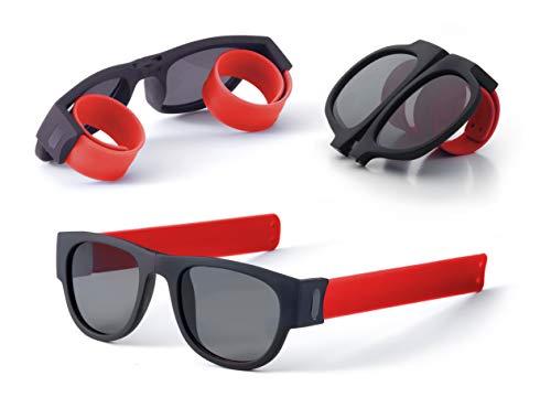 Occhiali da sole pieghevoli, unisex, protezione totale UV400, resistenti e durevoli, ideali per guida, viaggi, spiaggia, montagna, sport, feste
