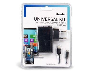 Hamlet XPW220MOB alimentatore universale 110-220V/ USB 5V per Tablet PC, Smartphone, eBook readers, Hard Disk 2,5', HUB USB ,NAS