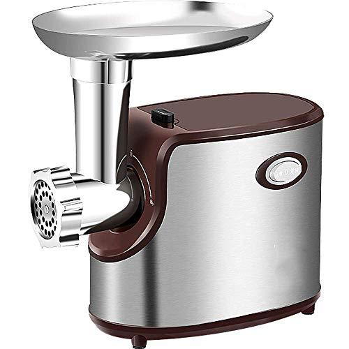 Picadora de carne eléctrica Máquina para hacer salchichas Fácil de limpiar con accesorio de cuchillas de corte múltiple Pequeña picadora de carne eléctrica comercial de acero inoxidable xiao1230