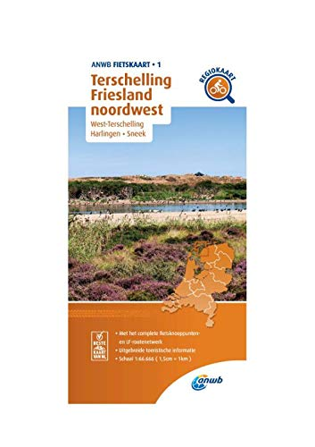 Fietskaart Terschelling, Friesland noordwest 1:66.666: West-Terschelling, Harlingen,Sneek