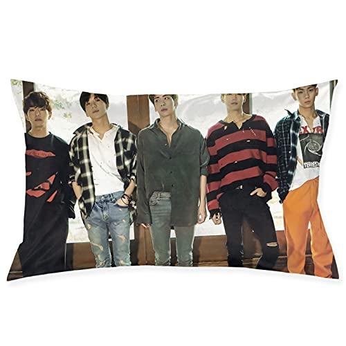 Shinee K-POP - Funda de cojín coreana para sofá, jardín, cama, cojines de 50,8 x 76,2 cm