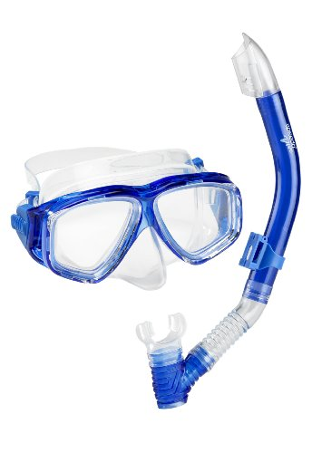 Speedo Unisex-Adult Adventure Swim Mask & Snorkel Set Blue