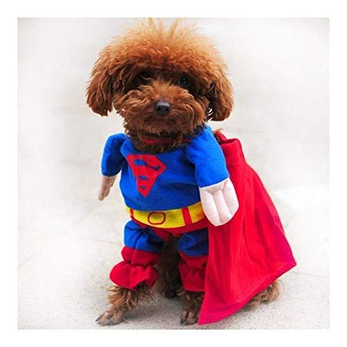 NDYD Disfraz de perro divertido disfraz cachorro abrigo para perros pequeos perros animales en disfraz abrigo chihuahua ropa (color: Superman funda), tamao: 1) DSB