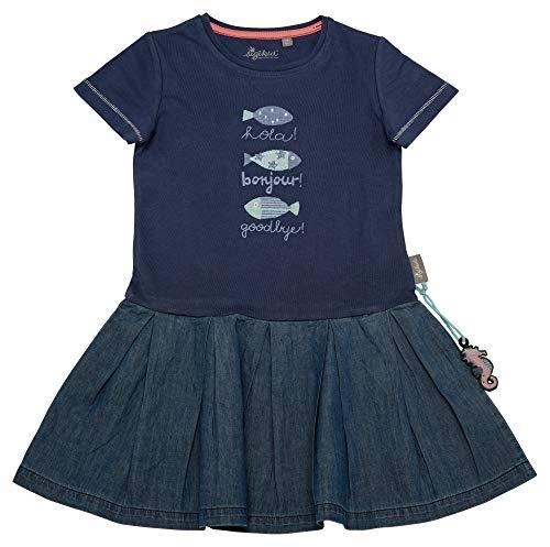 Sigikid Mädchen, Mini Kleid, Blau (Costal Fiord Melange 284), (Herstellergröße: 128)