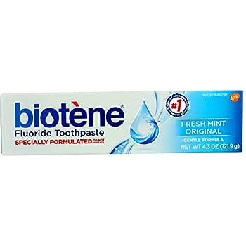 biotène Gentle Formula Fluoride Toothpaste Fresh Mint 4.3 oz  Pack of 2