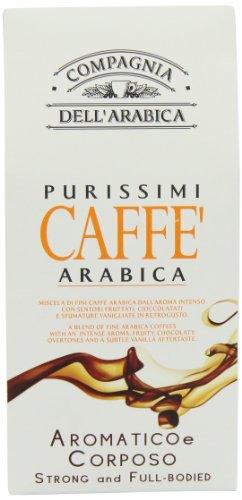 COMPAGNIA DELL´ARABICA - Café Molido - Purissimio Arabica Aromatico e Cremoso - Intensa Fusion Aromatica 250g