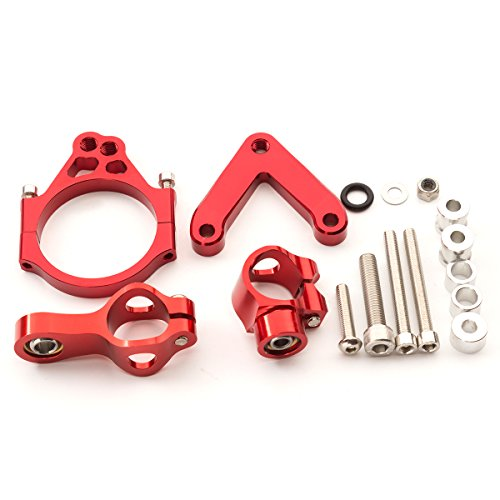 Qii lu Aluminum Alloy Motorcycle Steering Damper Stabilizer Mounting Bracket Kit for Z900