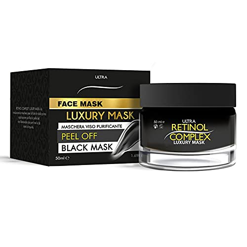 Retinol Complex Face Mask, Mascaria Negra, Peel off, Black mask, Mascarilla purificante