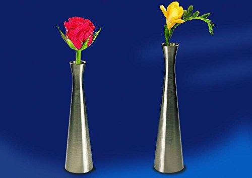 APS 04015 vaas Ø 4 cm, H: 16,5 cm tinnen drukgietijzer, vernikkeld, gelakt, beschermd tegen aanslag, roestvrijstalen look